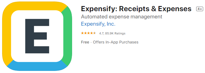 Expensify Expense Receipt App