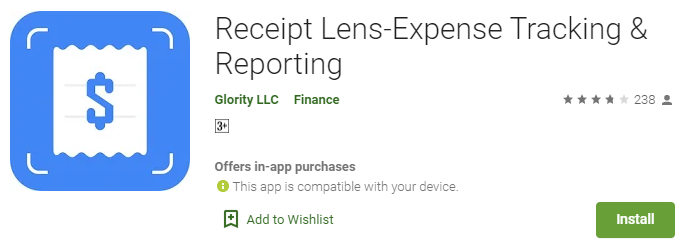 Receipt Lens Receipt and Expense Tracking App