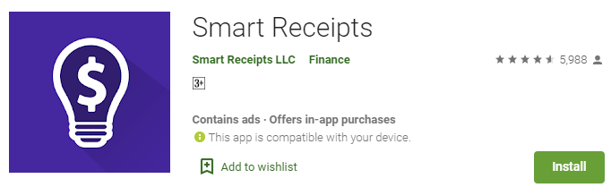 Smart Receipts Expense Receipt App