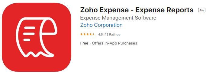 Zoho Receipt App